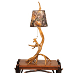 Table Antler Lamp with Shade