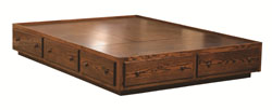 "13¾"" Platform Bed with Toe Kick, Style 15A"