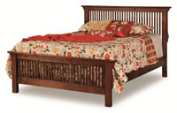 "Stick Mission Bed w/24""footboard"