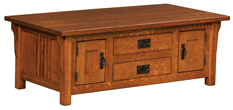 Camden Mission Cabinet Coffee Table