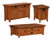 Camden Mission Cabinet Occasional Table Set