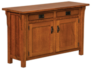 Camden Mission Cabinet Sofa Table