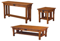 Camden Mission Open Occasional Table Set