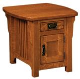 Craftsman Mission Cabinet End Table