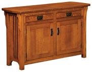 Craftsman Mission Cabinet Sofa Table