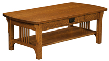Craftsman Mission Open Coffee Table
