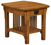 Craftsman Mission Open End Table
