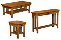 Craftsman Mission Open Occasional Table Set