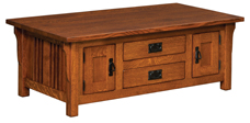 Elliot Mission Cabinet Coffee Table