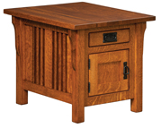 Elliot Mission Cabinet End Table