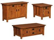 Elliot Mission Cabinet Occasional Table Set