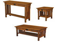 Elliot Mission Open Occasional Table Set
