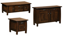 Grand Teton Cabinet Occasional Table Set