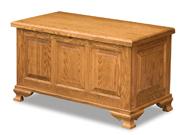 Triple Raised Panel Cedar Chest