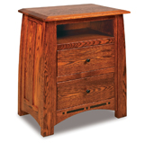 Boulder Creek  2 Drawer Night Stand with Opening