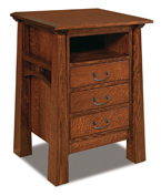 Artesa 3 Drawer Night Stand with Opening