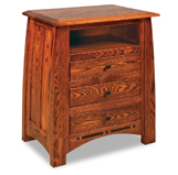 Boulder Creek  3 Drawer Night Stand with Opening