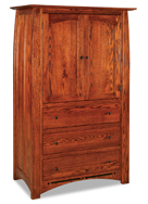 Boulder Creek  3 Drawer 2 Door Armoire