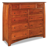 Boulder Creek  11 Drawer Double Chest
