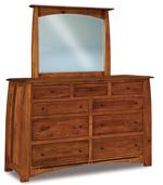 """Boulder Creek 67"""" 9 Drawer Dresser"""