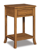 Carlisle  1 Drawer Open Night Stand