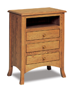 Carlisle  3 Drawer Night Stand with Opening