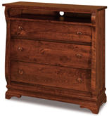 Chippewa Sleigh 3 Drawer Media Chest