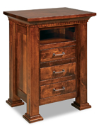 Empire 3 Drawer Night Stand with Opening