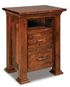 Empire 2 Drawer Night Stand with Opening