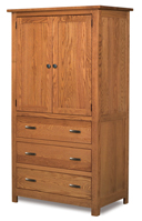Flush Mission 3 Drawer 2 Door Armoire