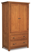 Flush Mission 2 Drawer 2 Door Armoire