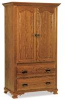 Hoosier Heritage  2 Drawer 2 Door Armoire