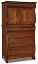 Old Classic Sleigh Chest Armoire