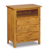 Shaker 3 Drawer Night Stand with Opening