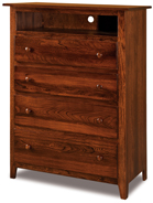 Shaker 4 Drawer Media Chest