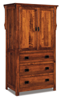 Stick Mission 3 Drawer 2 Door Armoire
