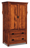 Stick Mission 2 Drawer 2 Door Armoire