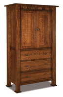 Sequoyah 3 Drawer 2 Door Armoire