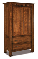 Sequoyah 2 Drawer 2 Door Armoire