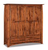 Boulder Creek Double Wardrobe Armoire