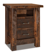 """Houston 27"""" 2 Drawer Night Stand with Opening"""