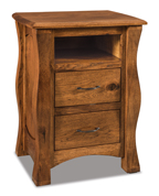 Reno 2 Drawer Night Stand with Opening