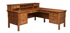 Centennial L Shaped Desk with Hutch