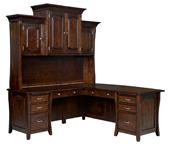Berkley L Shaped Desk with Hutch