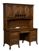 Carlisle Double Pedestal Desk with Hutch