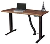 Adona Adjustable Standing Desk with Live Edge