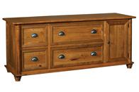 Belmont 4 Drawer 1 Door Credenza