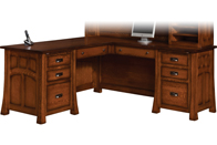 "Bridgefort Mission 66"" Corner Desk"