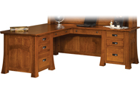 "Bridgefort Mission 74"" Corner Desk"