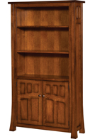 Bridgefort Mission Bookcase with Door